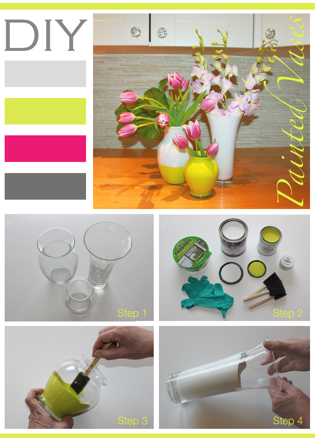 DIY Painted Glass Vases