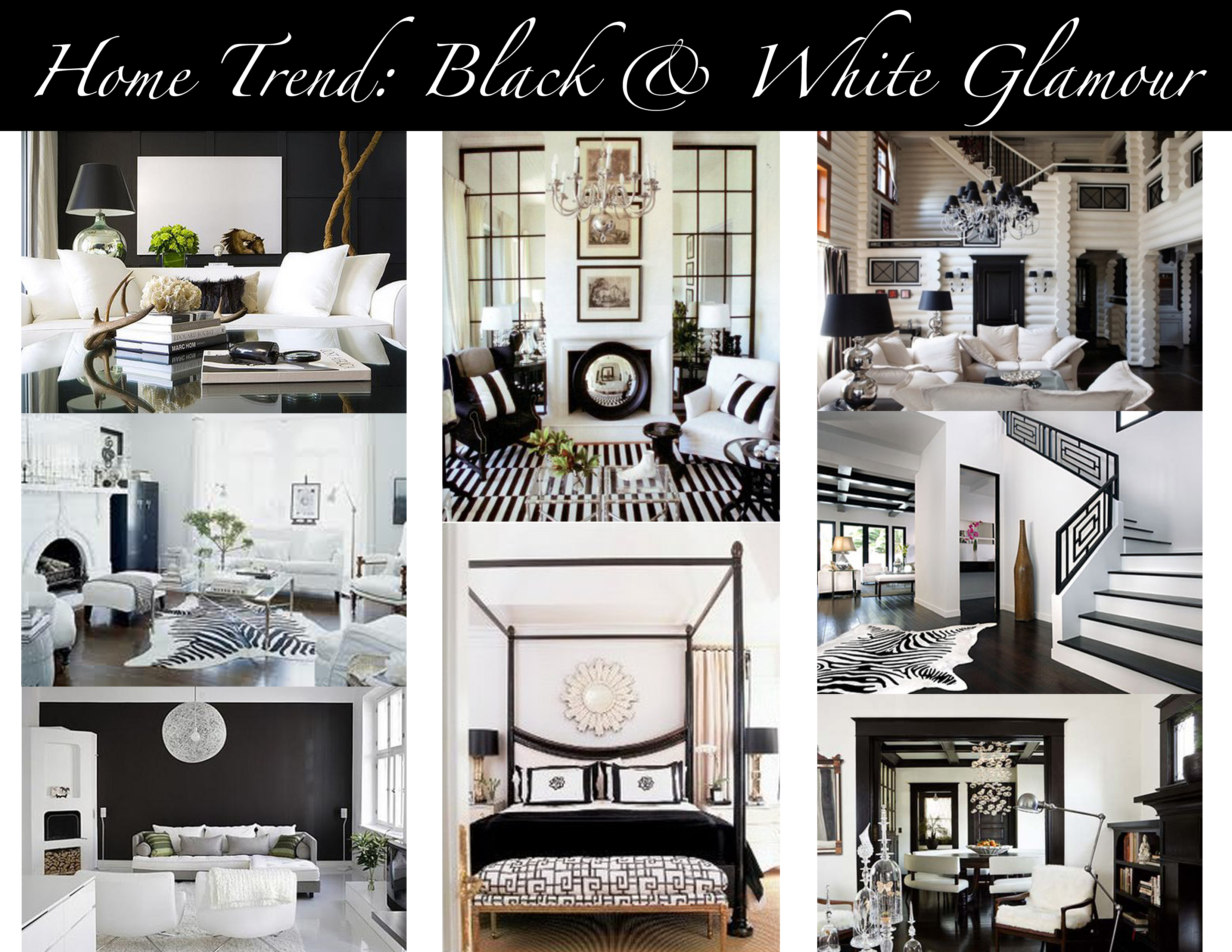 Home Trend Black White Glamour Mountain Home Decor