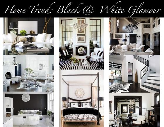 home trend black amp white glamour mountain home decor