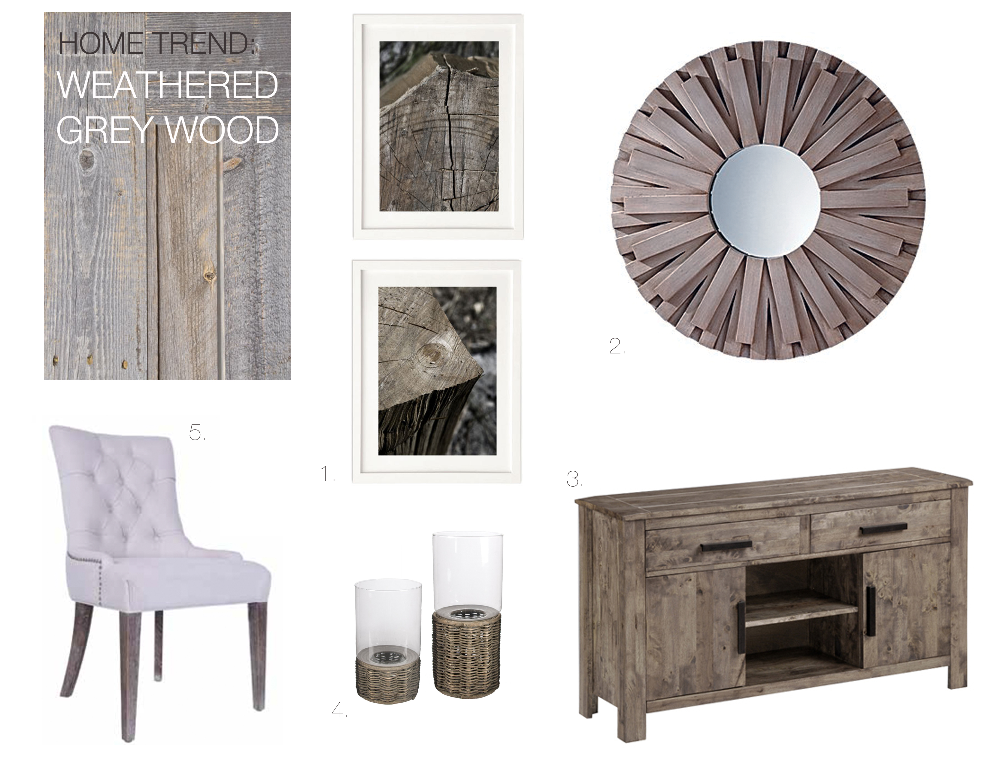 Grey Wood Furniture Mountain Home Decor
