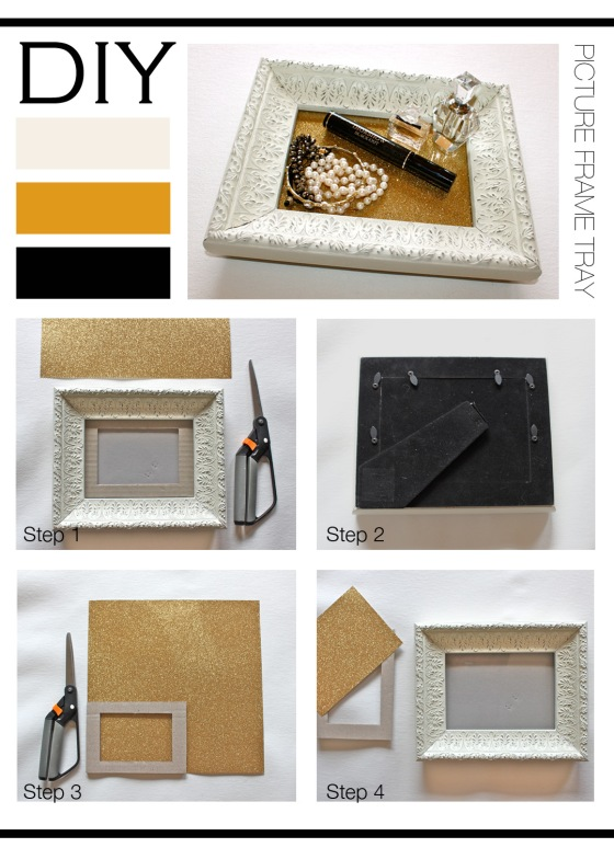 DIY Picture Frame Tray Mountain Home Decor