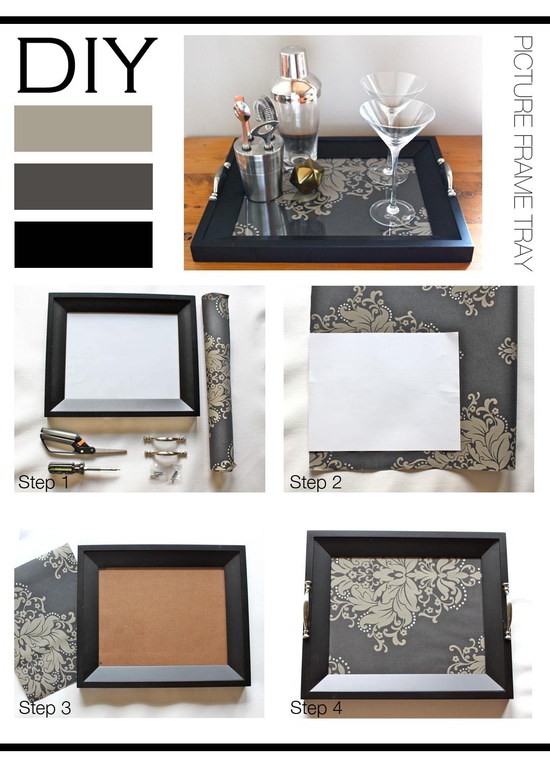 diy picture frame tray mountain home decor