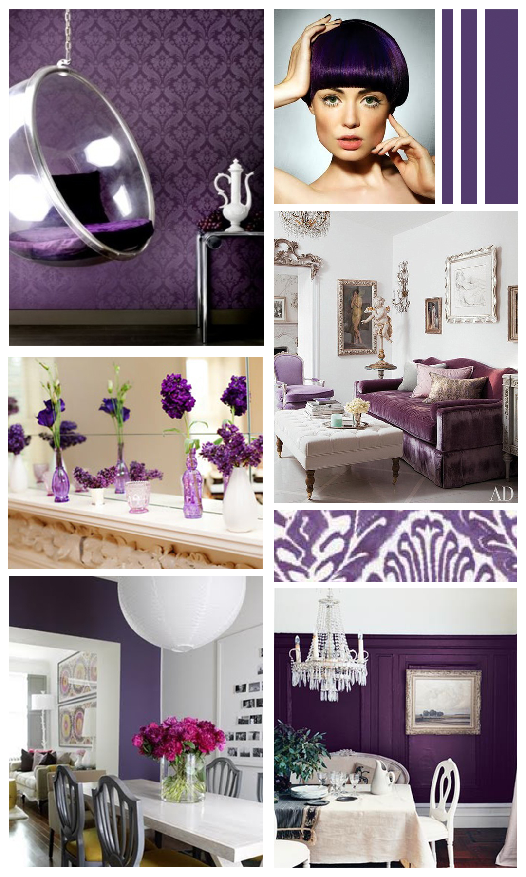 Colour of the month gentle violet mountain home decor for Violet home