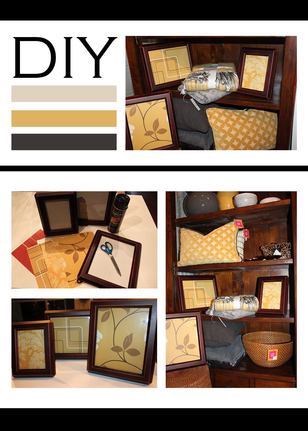 diy framed wallpaper mountain home decor