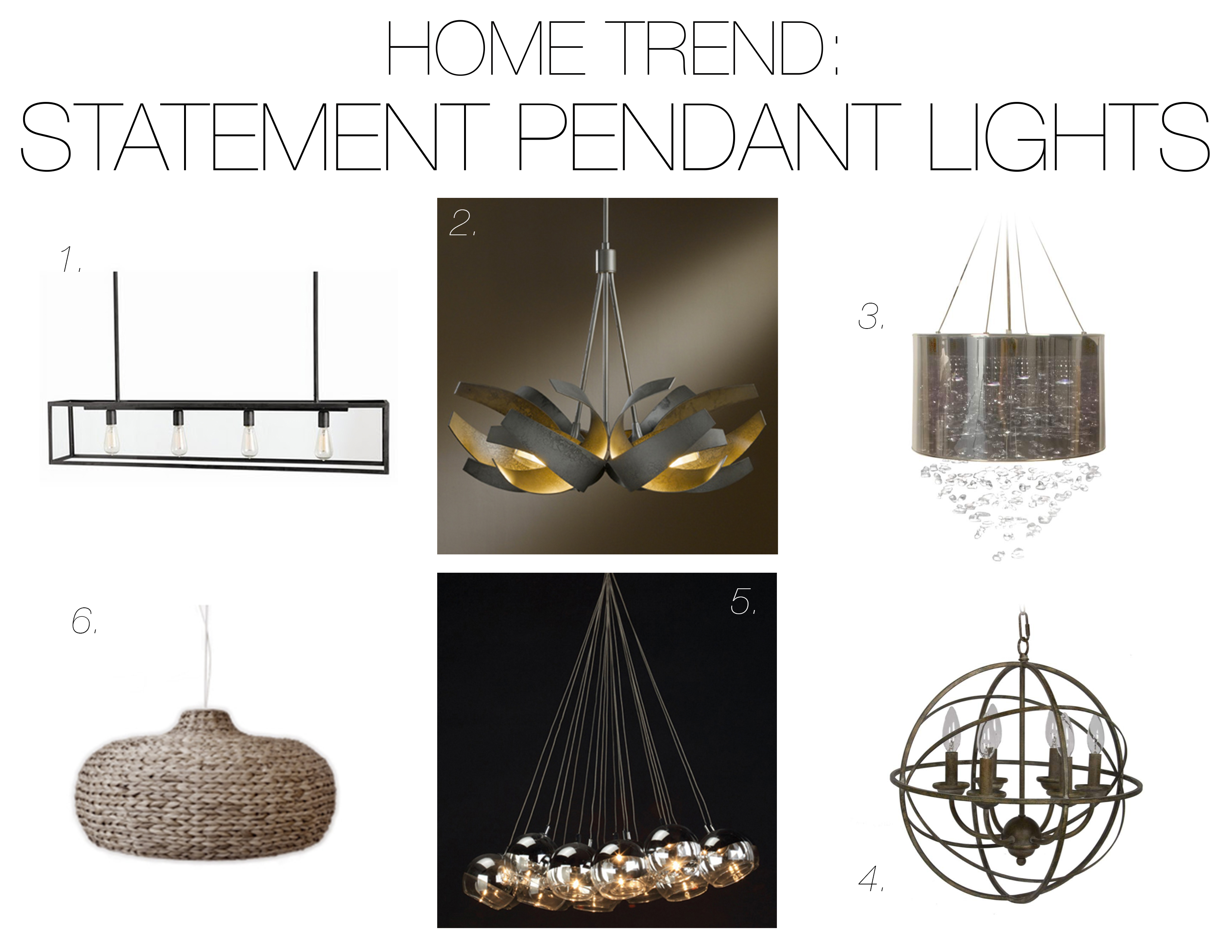 Home Trend Statement Pendant Lights Mountain Home Decor