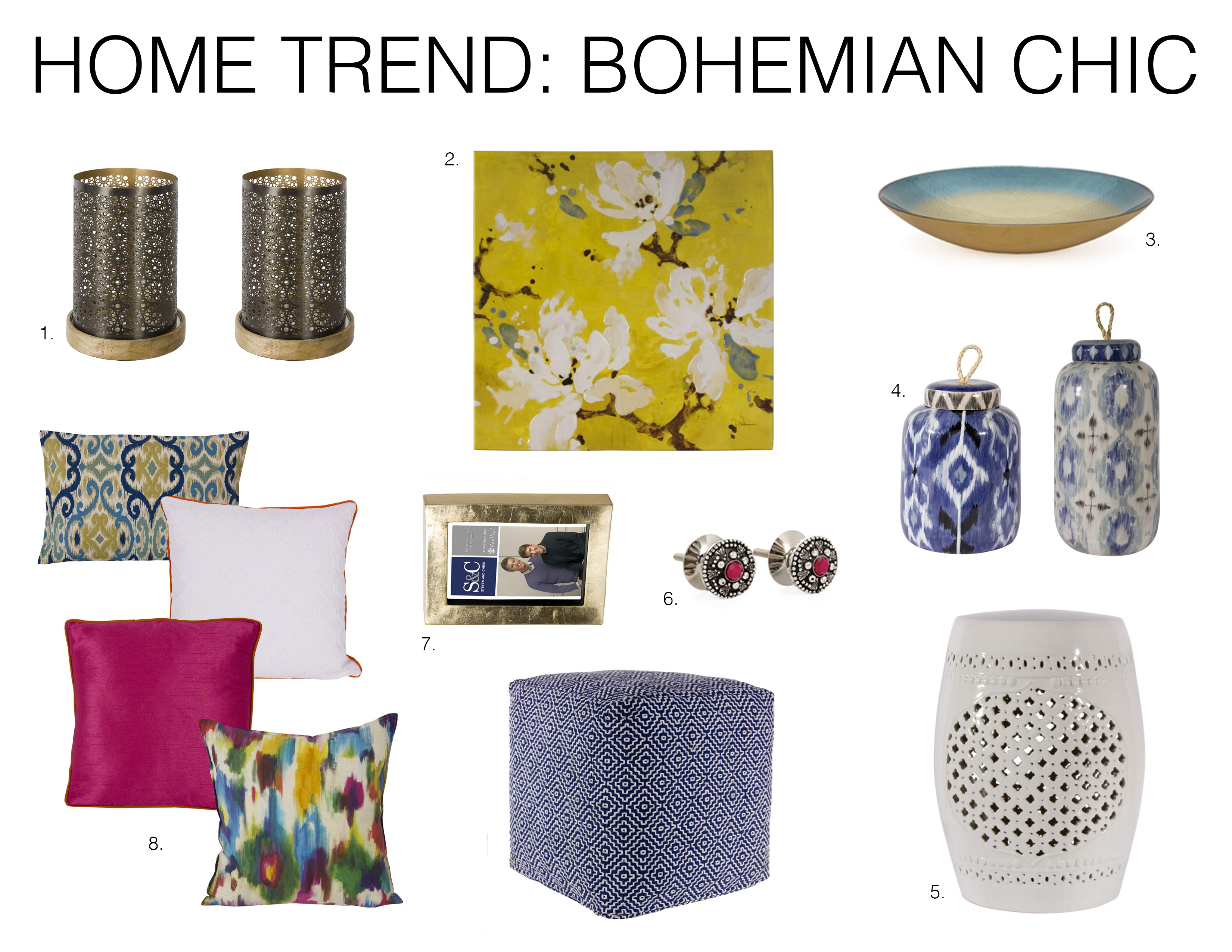 Home trend bohemian chic mountain home decor for Home decor accessories