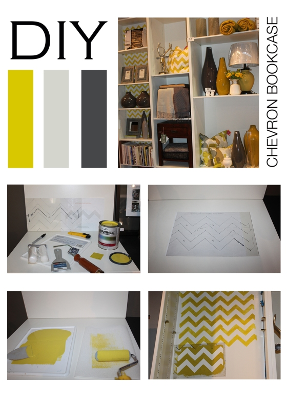 DIY_chevron bookcase