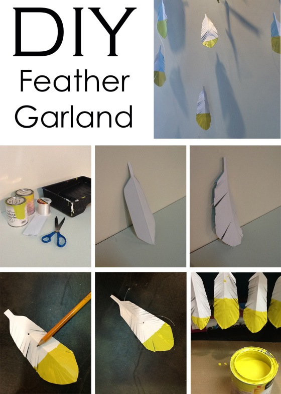 DIY_feather garland