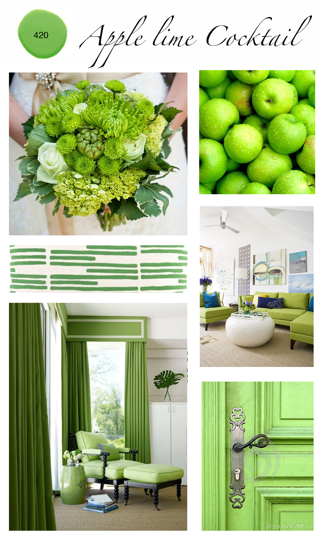 Colour of the month apple lime cocktail mountain home for Apple home decoration