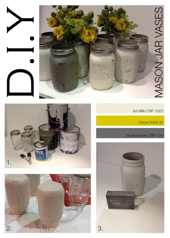 DIY_mason jar vases