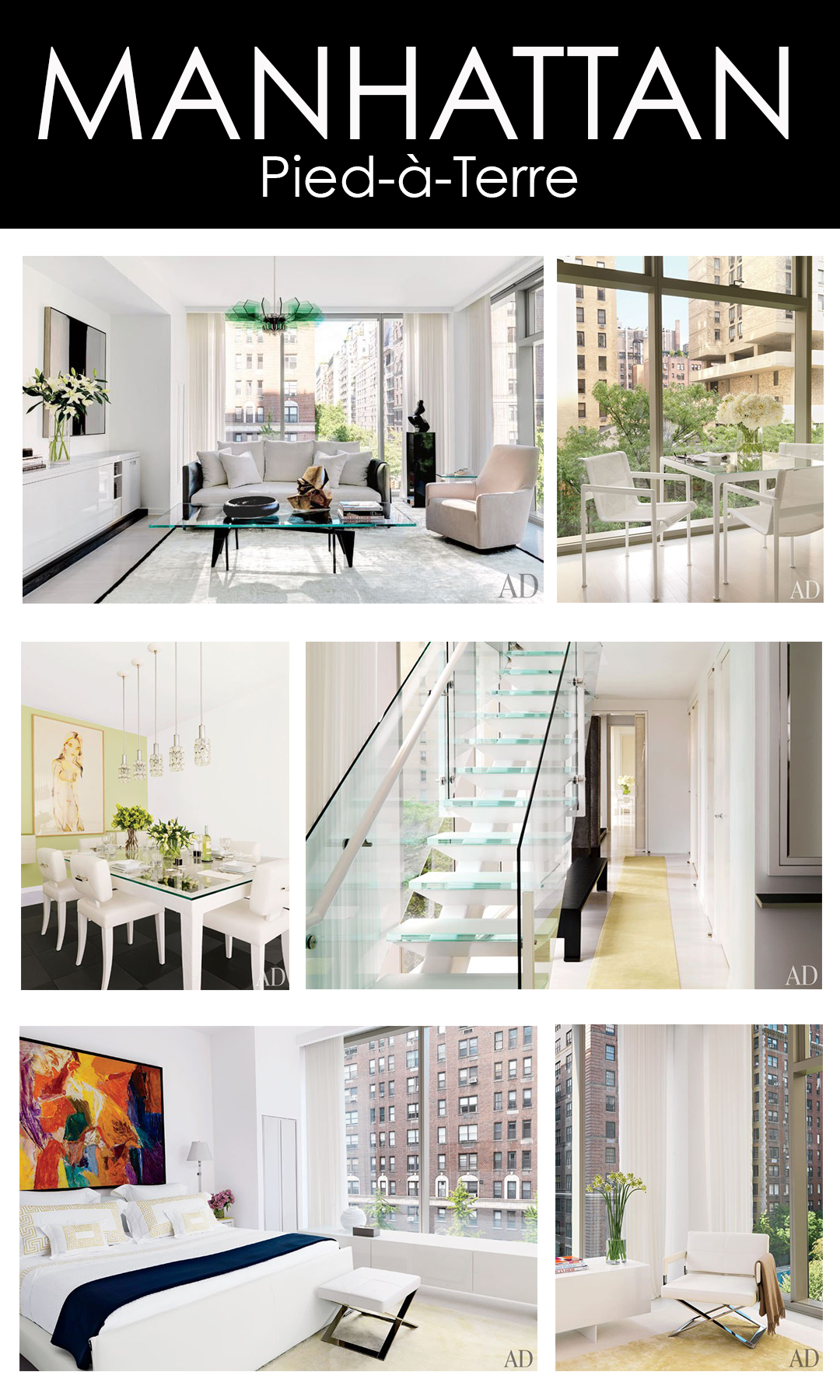 Architectural digest mountain home decor page 2 for Pied a terre manhattan