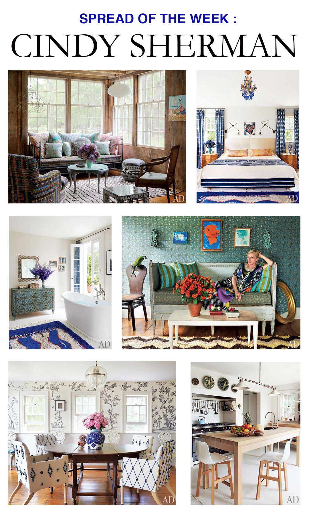 Spread Of The Week Cindy Sherman Mountain Home Decor