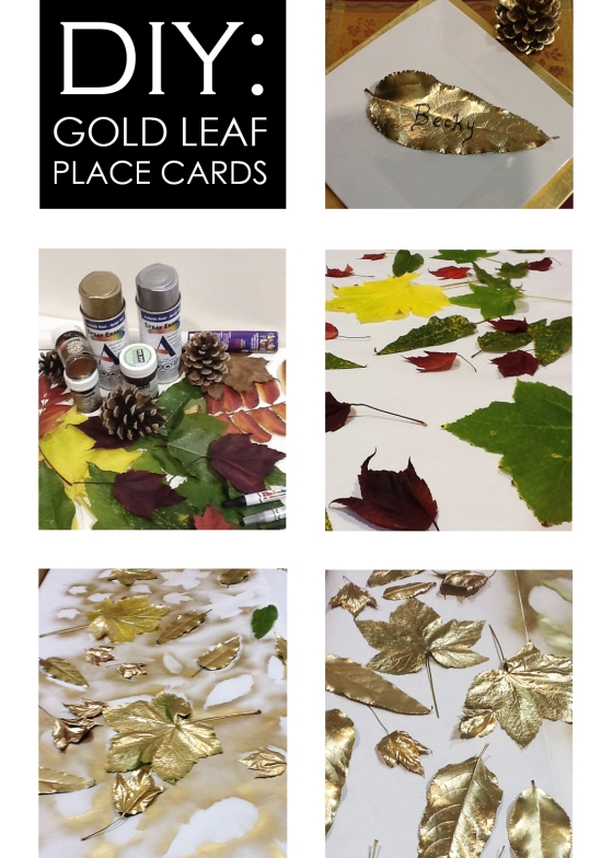 DIY_gold leaf place cards