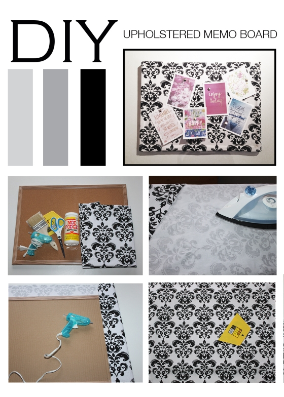 DIY_upholstered memo board