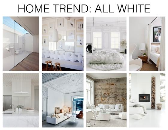 All white interiors mountain home decor for Mountain home design trends